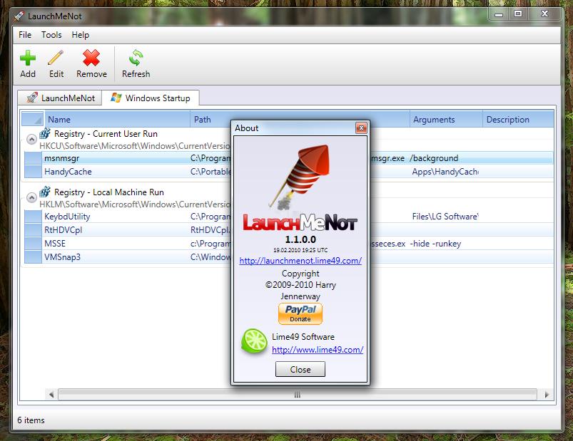 LaunchMeNot - программа для автоматического запуска избранных программ