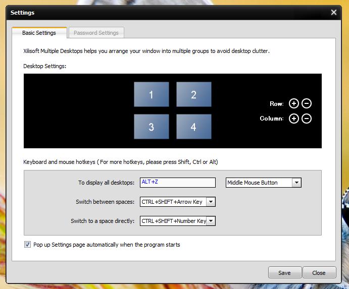 Xilisoft Multiple Desktops - менеджер рабочих столов