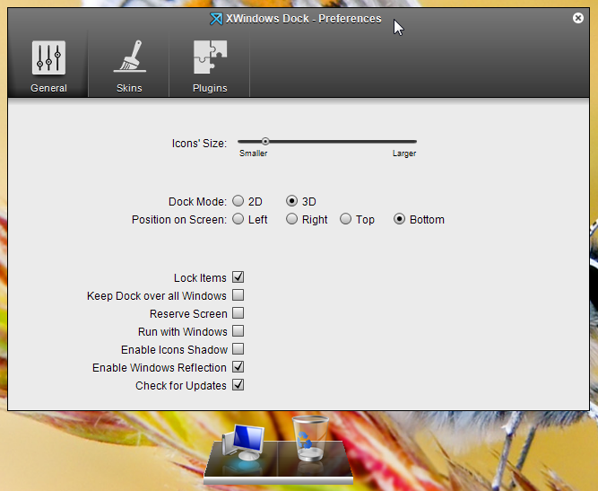 XWindows Dock — док-станция для Windows