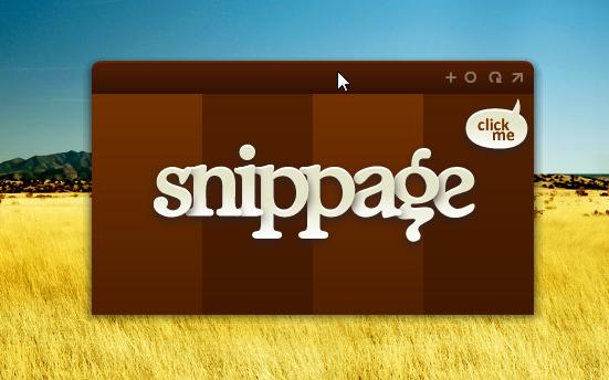 Как расположить любую веб-страницу на рабочем столе с помощью snippage