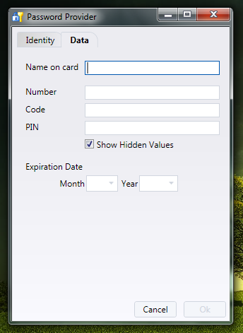 Password Provider - простой менеджер паролей