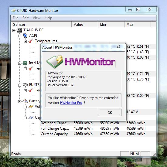 Измеряем температуру с помощью HW Monitor
