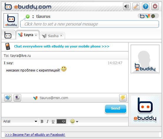Веб-мессенджер ebuddy