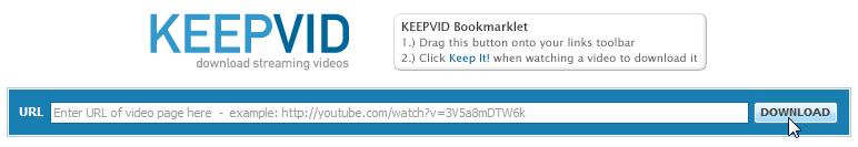 Как скачать видео с YouTube без программ с помощью KeepVid (1)