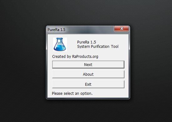 PureRa - маленькая программа для поддержания большой чистоты