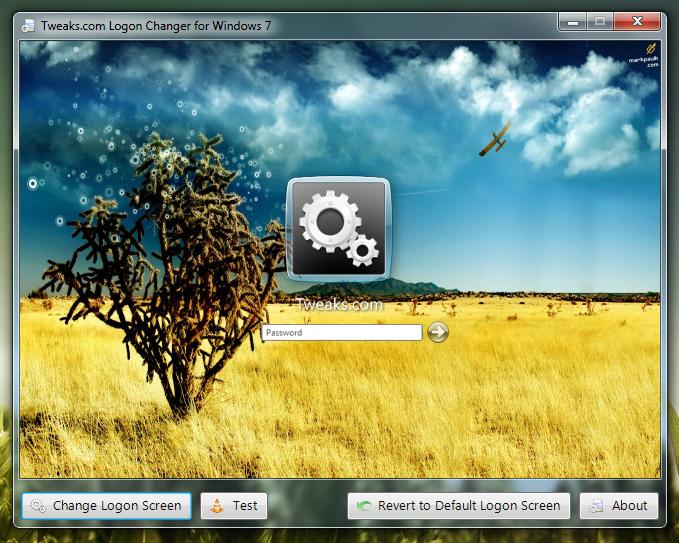Logon Changer - программа для изменения окна приветствия в Windows 7