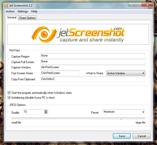 Jet Screenshot - программа для раздачи скриншотов