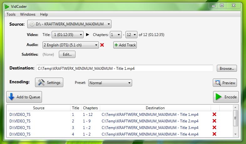 VidCoder - простой конвертер видео файлов (1)