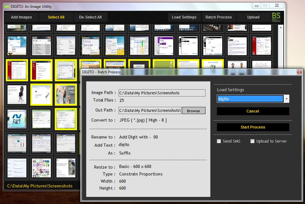 Digito - программа для пакетного изменения изображений