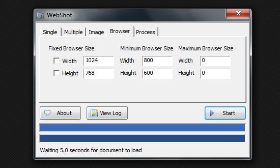 WebShot - программа для создания скриншотов сайтов