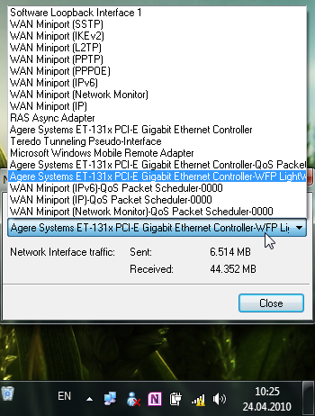 Network Activity Indicator - значок сетевой активности для Windows 7