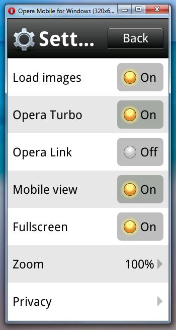 Эмулятор Opera Mobile (3)