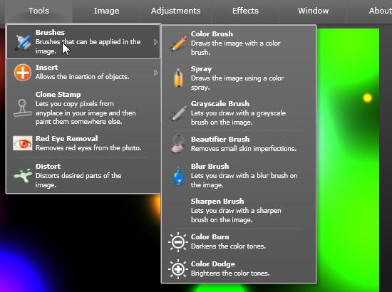 Thumba - онлайновый редактор изображений на Silverlight (4)