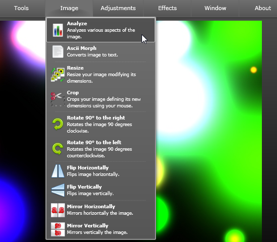 Thumba - онлайновый редактор изображений на Silverlight (3)