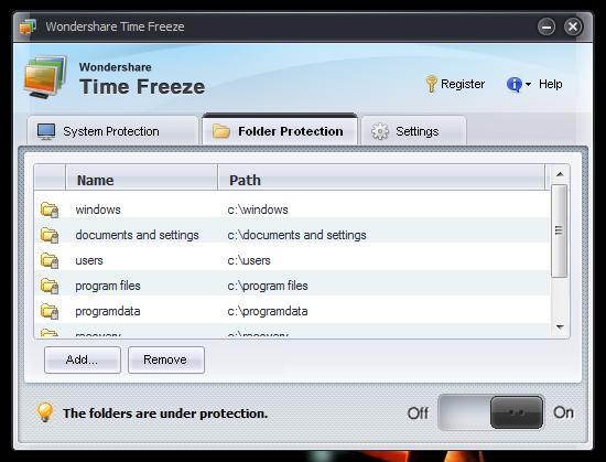 Защищаем систему с помощью Time Freeze (2)
