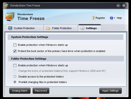 Защищаем систему с помощью Time Freeze (1)