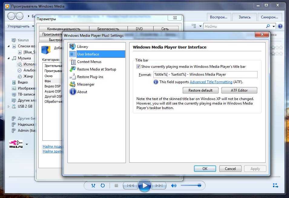 Windows Media Player Plus расширяет возможности популярного плеера (3)
