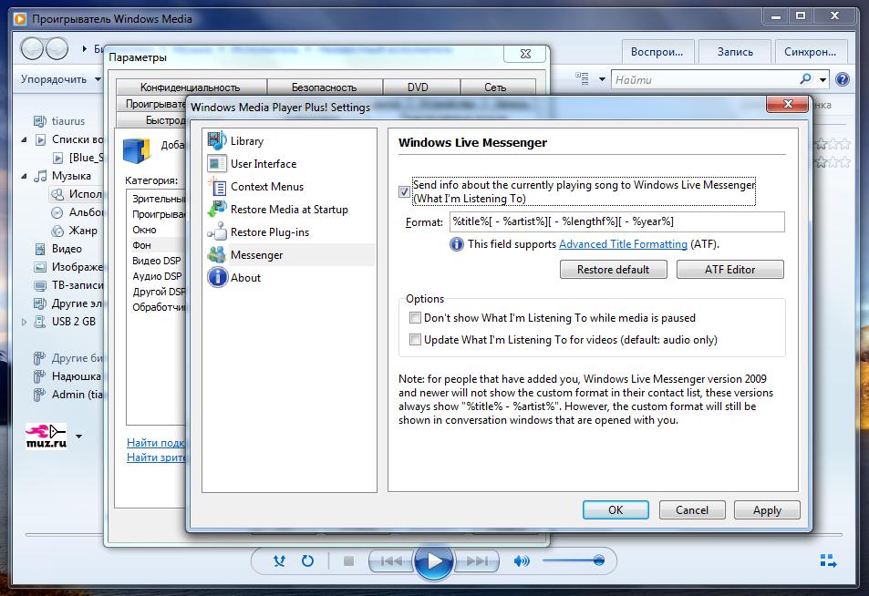 Windows Media Player Plus расширяет возможности популярного плеера (1)