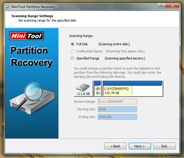 MiniTool Partition Recovery поможет изменить или восстановить раздел жесткого диска