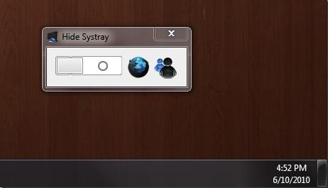 Windows 7 System Tray Hider скрывает системный трей