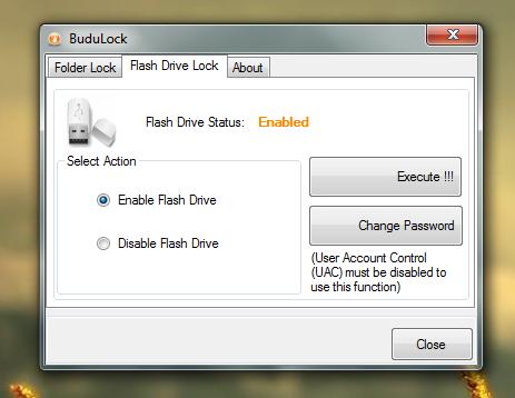 BuduLock шифрует содержимое папок и закрывает доступ к портам USB
