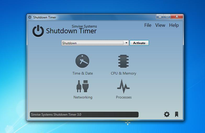 Shutdown Timer - автоматическое реагирование на системные события