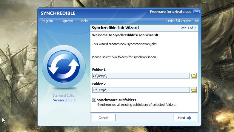 Synchredible - простая программа для автоматической синхронизации данных (9)