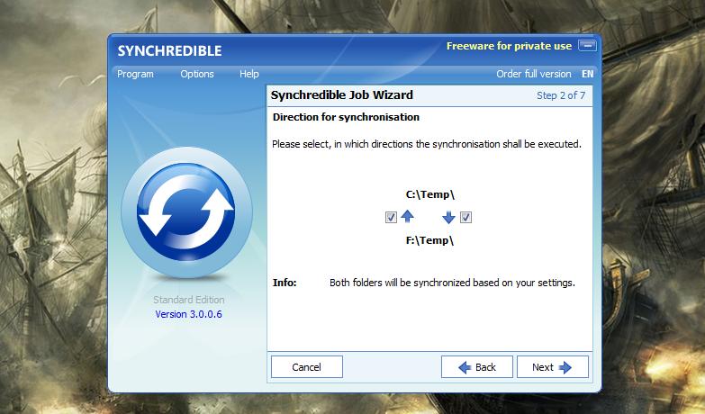 Synchredible - простая программа для автоматической синхронизации данных (8)