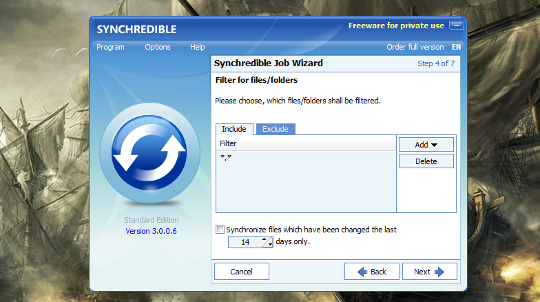 Synchredible - простая программа для автоматической синхронизации данных (6)