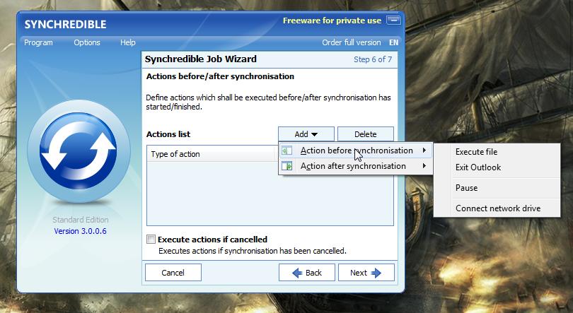 Synchredible - простая программа для автоматической синхронизации данных (4)