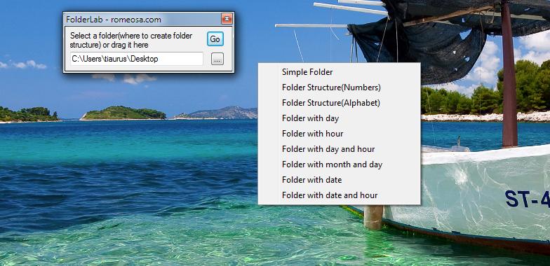 Folder Lab - утилита для создания папок с заданной структурой