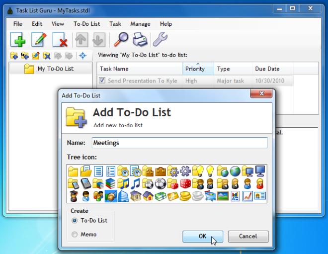 Task List Guru — бесплатный и портабельный менеджер to-do листов (задач)