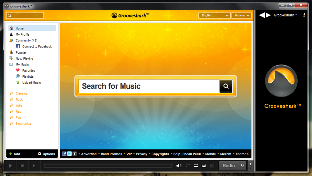 Grooveshark – портабельный онлайновый музыкальный плеер