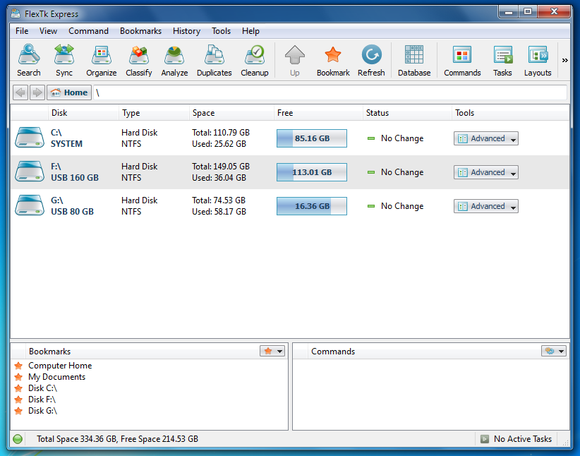 FlexTK Express - многоплановая программа для поддержания файлов в порядке