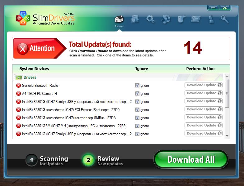 SlimDrivers - программа для автоматического обновления драйверов