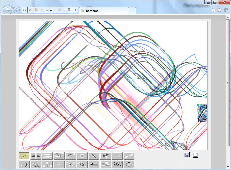 Bomomo - онлайновый графический редактор для создания красивых узоров
