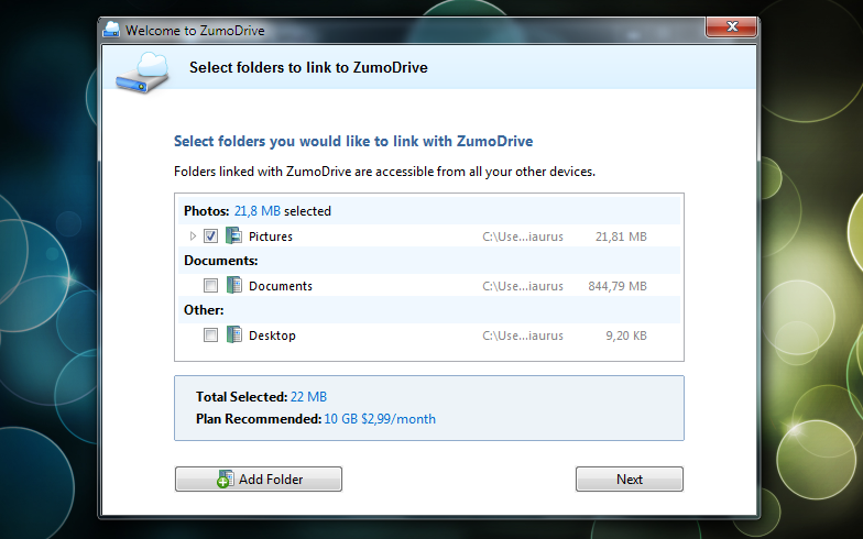 ZumoDrive – бесплатный онлайновый диск для размещения ваших файлов