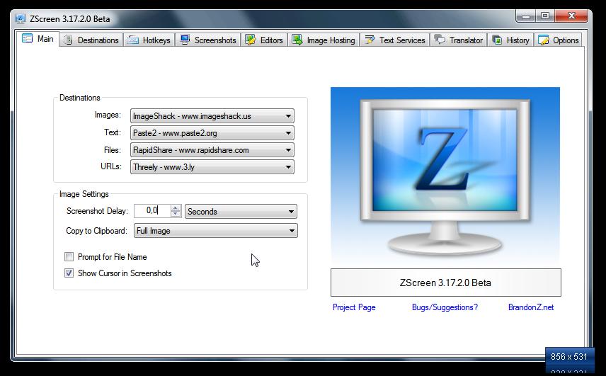 ZScreen - удобный скриншотмейкер с дополнительными возможностями