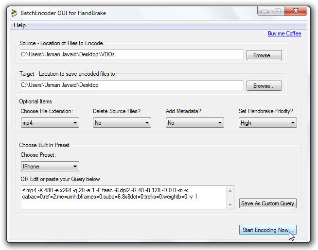 HandBrake Batch Encoder - программа для пакетного конвертирования медиа файлов