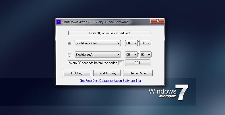 ShutDown After - автоматическая перезагрузка и выключение компьютера по расписанию с помощью горячих клавиш