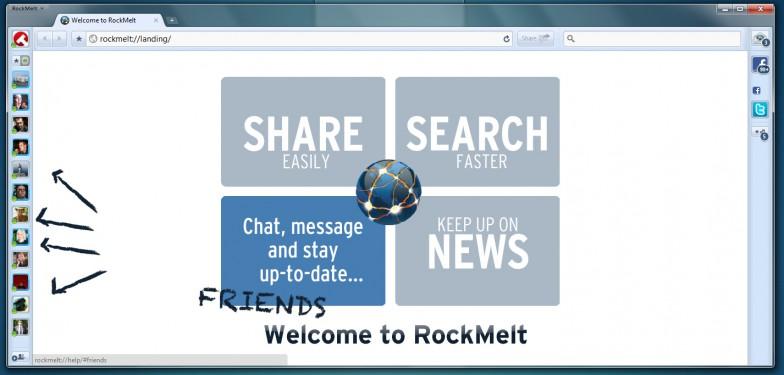 RockMelt - еще одна попытка сделать социальный браузер
