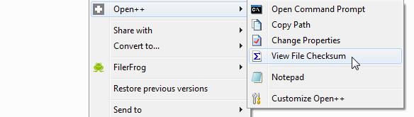 Open++ - расширение Проводника, добавляющее новые возможности в контекстное меню