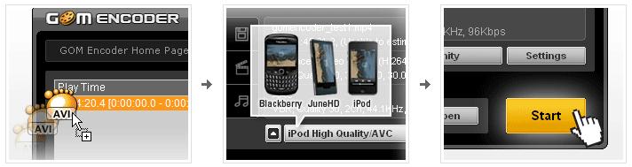 GOM Encoder - удобный конвертер видео для мобильных устройств