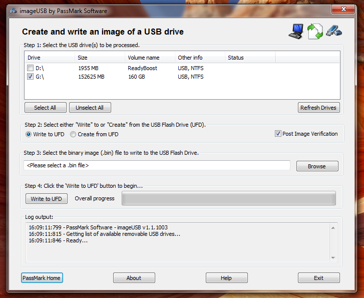 ImageUSB - простая портабельная программа для создания образа флешки