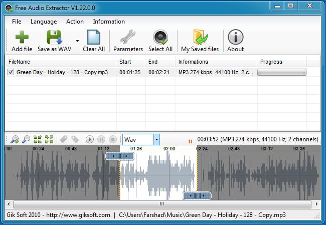 Создание рингтонов из любых медифайлов с помощью Free Audio Extractor