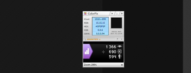 ColorPix - портабельная утилита для определения цвета под курсором