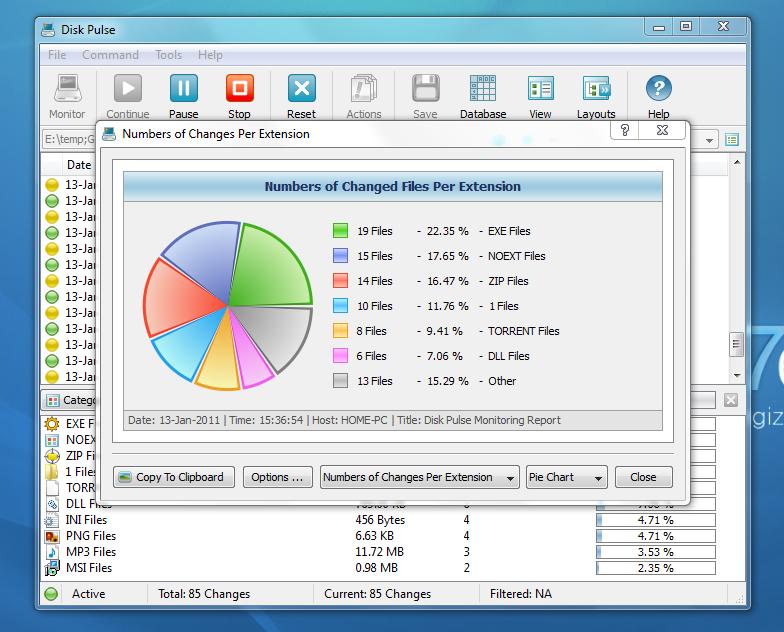 Disk Pulse - программа для мониторинга изменений файлов и папок