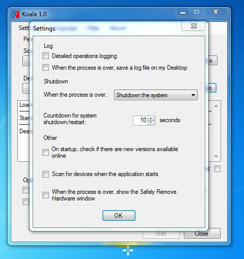 Koala - простая программа для создания загрузочной флешки с Windows 7