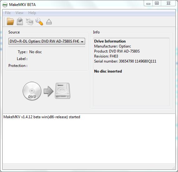 MakeMKV - простая программа для создания качественных копий Blu-Ray и DVD дисков
