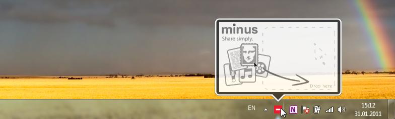 Min.us Desktop App - утилита для удобной отправки картинок в облачное хранилище min.us